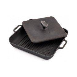 Сковорода гриль квадратная 280х280х40 с прессом 3.9 кг
